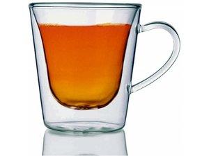 Luigi Bormioli doppelwandiges Teeglass, set von 2, 0,295 Liter