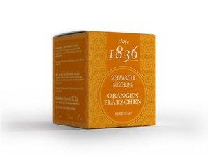 Schwarz Tee - Orange Plätzchen 15 Piramiden-Teebeutel (je 60 Gramm)