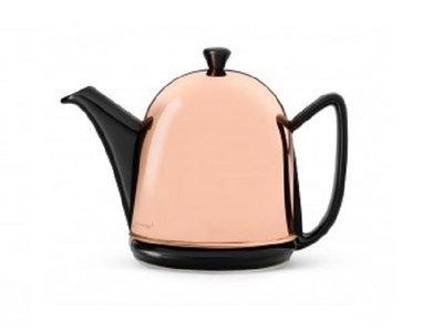 Cosy® Manto Teekanne Schwarz 1,0 Liter - Kupferne Haube