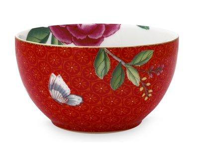 Pip Studio Schale Blushing Birds Rot mit Blume 9,5 cm
